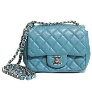 Chanel Teal Leather Mini Flap Bag