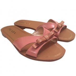 Prada Peachy pink slippers