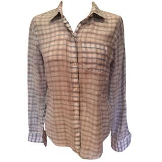 Theory Blue Check Shirt