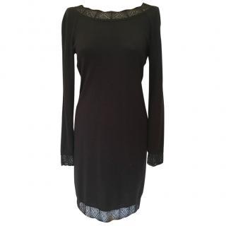 Love Moschino black fine wool dress