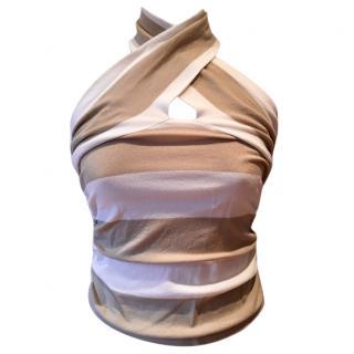 Valentino striped stretch knit top