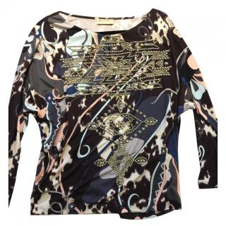 Pucci printed studded top