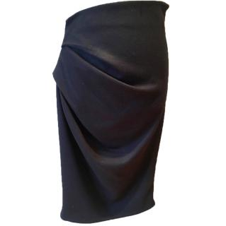 Amanda Wakeley black asymmetric skirt