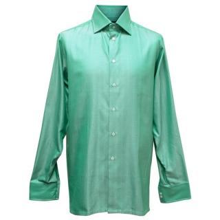 Richard James Savile Row Mens Green Shirt