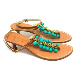 Miss Trish of Capri Tan Heeled Sandals