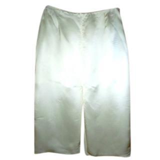 Prada Cream Satin Skirt