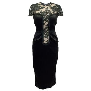 Jean Paul Gaultier Black Satin Pencil Evening Dress