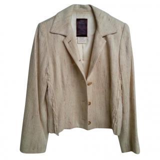 John Galliano Beige Linen Jacket