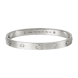 Cartier Love Bangle 18Carat White Gold + 4 Diamonds