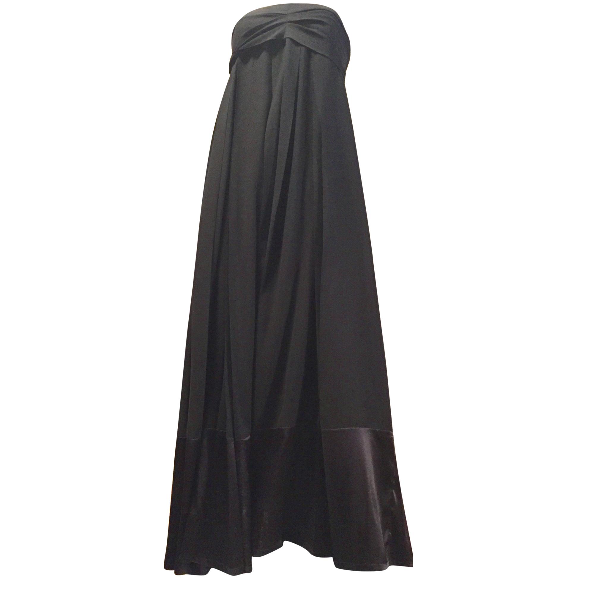 JIL SANDER long cashmere & silk evening dress size S