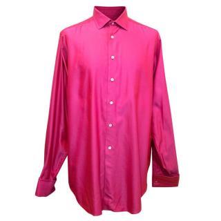 Richard James Savile Row Mens Pink Shirt