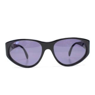 Emporio Armani Black Round Sunglasses