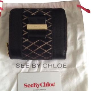 See by Chloe black leather wallet