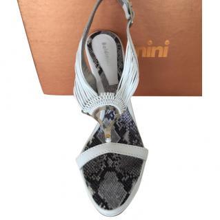Baldinini white leather sandals