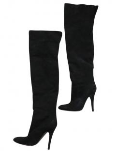 Balmain Black Over the Knee Boots