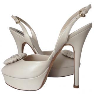 Bally Heels in Cream