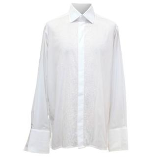 Richard James White Dress Shirt With Beads