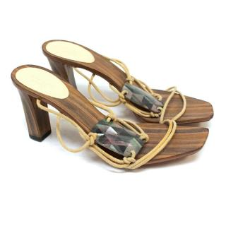 Gucci Wooden Heeled Sandals