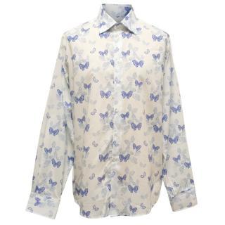 Richard James Butterflies Pattern Shirt