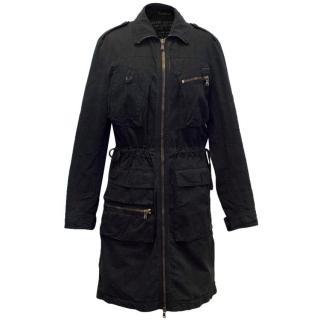 Dolce & Gabbana Black Cotton Parka Jacket