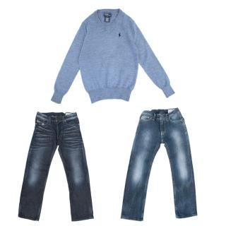 Diesel Boys Jeans And Polo Ralph Lauren Boys Jumper