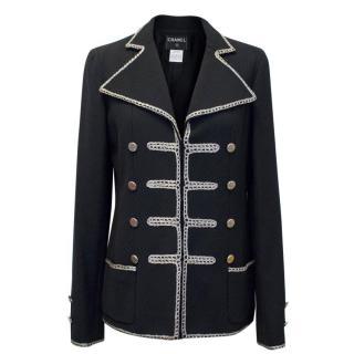 Chanel Black Military Blazer