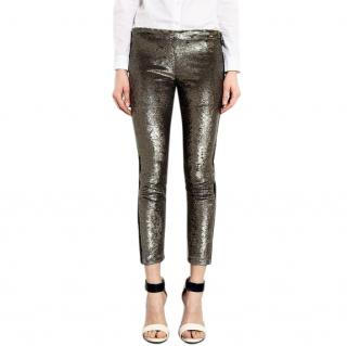 Iro Vani Metallic Sequin Pants