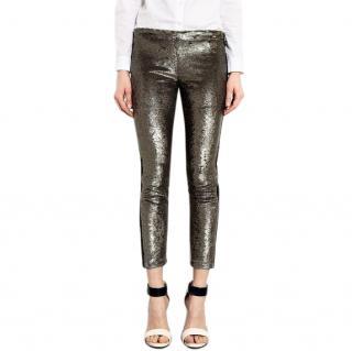 Iro Vani Metallic Sequin Pants