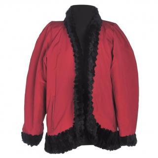 Vintage Yves Saint Laurent Vintage Coat with fur trim and fur lining