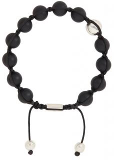 Nialaya Men's Matte Black Onyx Bracelet