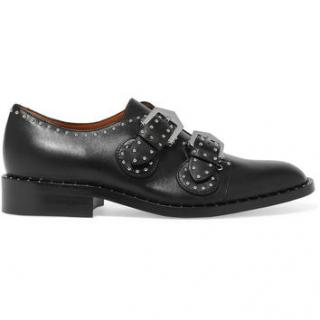 Givenchy Biker studded brogues in black leather