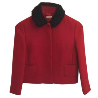Miu Miu Red wool jacket