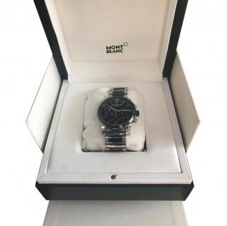 Montblanc Timewalker Steel and Black Ceramic Chronograph Men's Watch