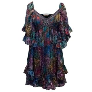 Rebecca Taylor Multicoloured Mini Silk Dress