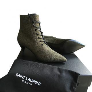 Saint Laurent Cat Lace-Up Boots