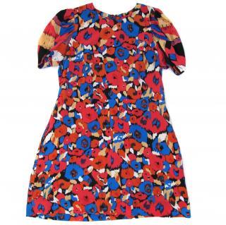 See by Chloe 100% silk print mini shift dress