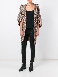 Givenchy Oversized Leopard Print Trench