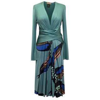 Issa Patterned Green Dress