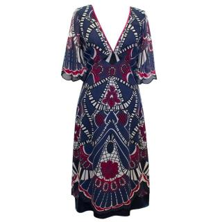 Temperley Silk Printed Dress