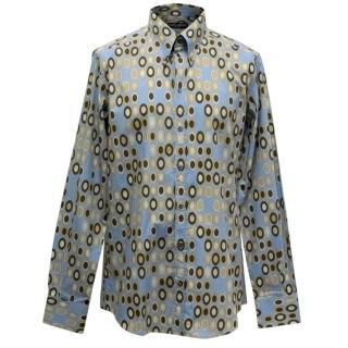 Dolce & Gabbana Gold Fit Mens Cotton Printed Shirt