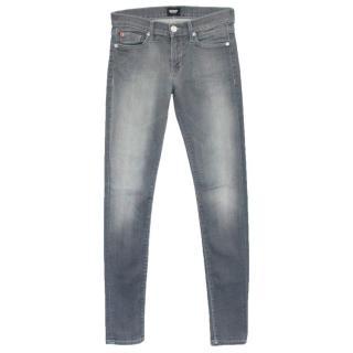Hudson Grey 'Shine' Midrise Skinny Jeans