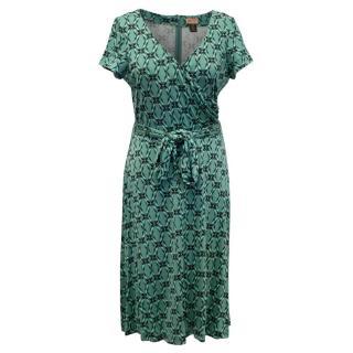 Issa Short Sleeved Printed Dress