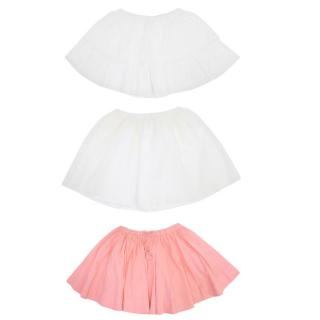 Bonpoint Girls Pink and White Skirts
