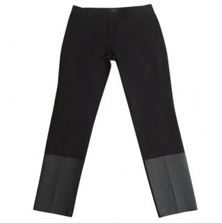 Joseph 'Lennox Gabardine Stretch' Black Trousers