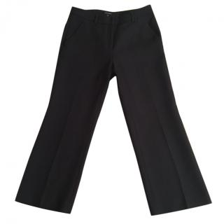 Tara Jarmon charcoal virgin wool blend culottes