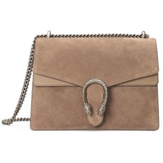 Gucci Dionysus Taupe Suede Shoulder Bag