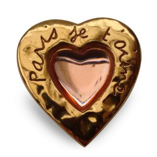 YSL Yves Saint Laurent Vintage Heart Shape Brooch