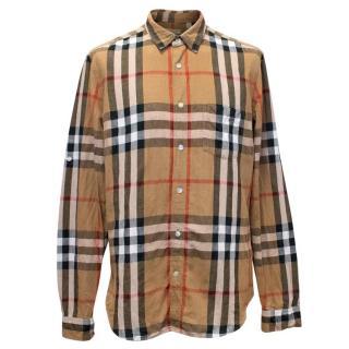 Burberry Brit Mens Check Button Down Shirt