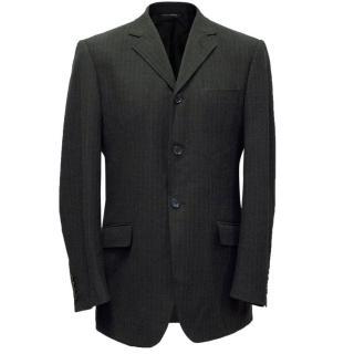 Dolce & Gabbana Mens Grey Pinstripe Blazer