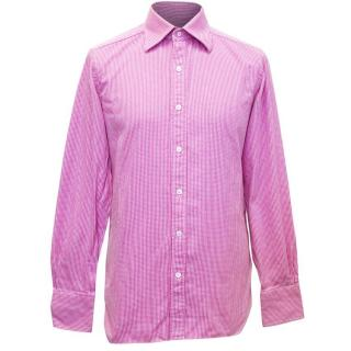 Tom Ford Men's Lightly Textured Pink Shirt